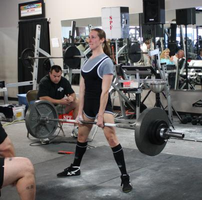 my 300 pound deadlift for the SPF push/pull world record