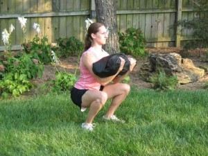 Zercher Squat with Sandbag