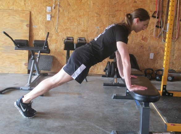 hands elevated push-up (easier)