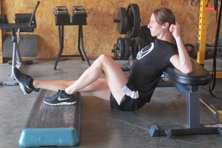 foot elevated single leg hip thrust