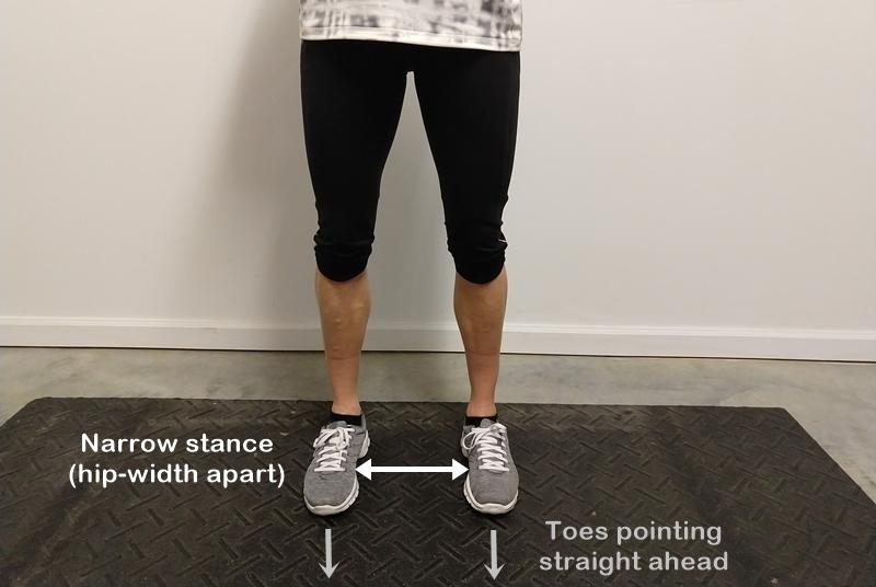 narrow stance