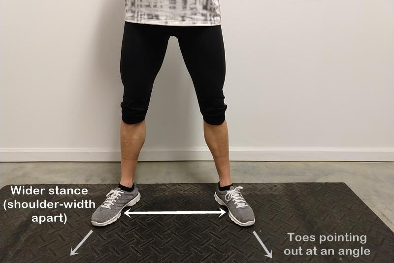 wider stance