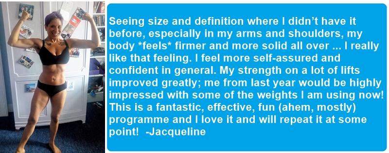 Jacqueline's testimonial