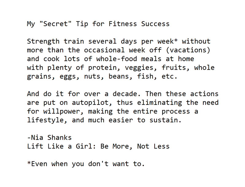 the secret to fitness success
