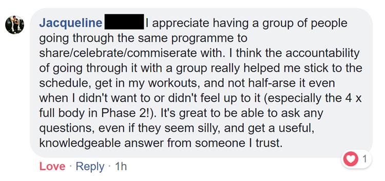jacqueline coaching feedback