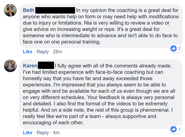 coaching group feedback