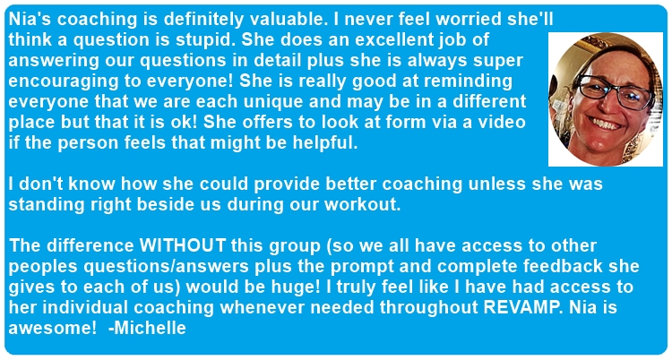 Michelle coaching feedback