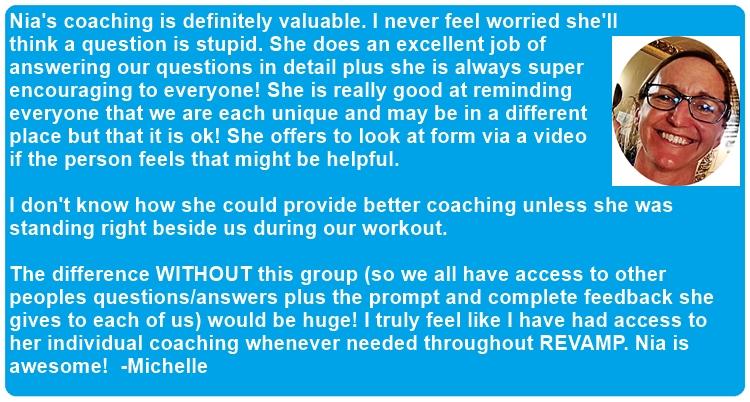 Michelle coaching feedback