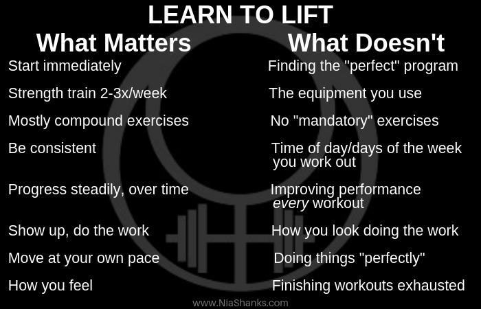 learn to lift what matters and what doesn