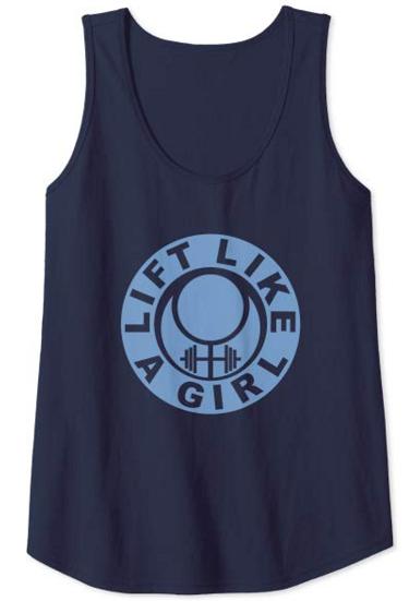 lift like a girl blue wrap logo tank top on amazon