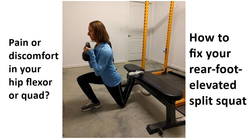fix your raised back foot split squat